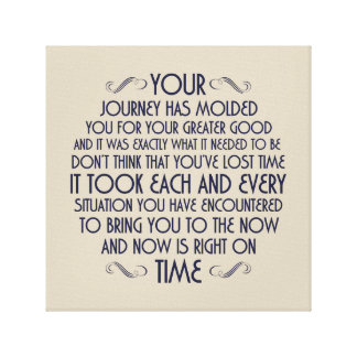 Now is right on time: Printed Canvas Canvas Print