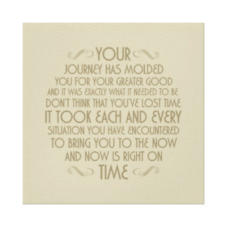 Now is right on time: Printed Canvas Stretched Can Canvas Print