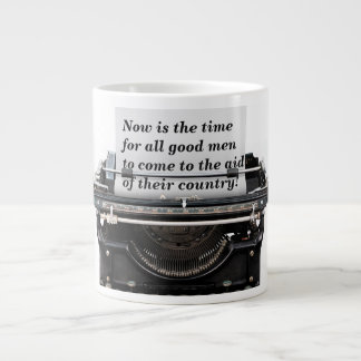 Now is the time large coffee mug
