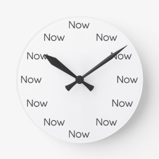 Now is Zen™ - Mindfulness Taoist Buddhist Round Clock