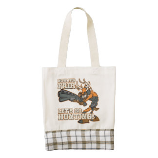 Now It's Fair, Let's Go Hunting! Zazzle HEART Tote Bag