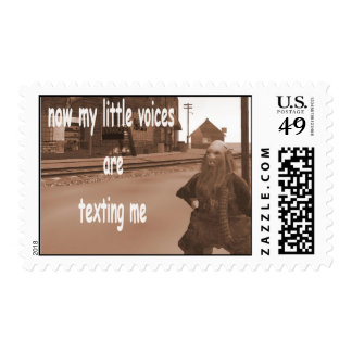 Now my little voices are texting me postage