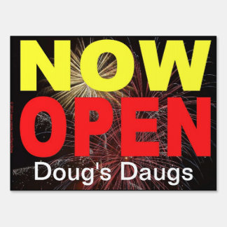 Now Open / Grand Opening  Restaurant Sign