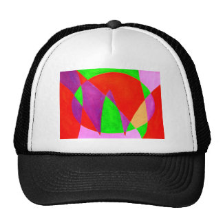 NOW painted in abstract word or text art Hats