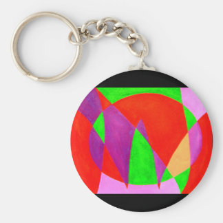 NOW painted in abstract word or text art Key Chain