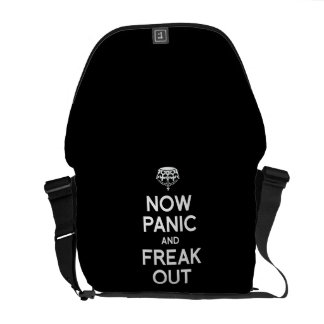 NOW PANIC AND FREAK OUT COURIER BAG