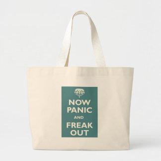 Now Panic And Freak Out Jumbo Tote Bag