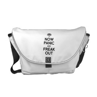 NOW PANIC AND FREAK OUT MESSENGER BAG