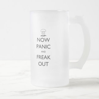 'Now Panic and Freak Out' mushroom cloud stein
