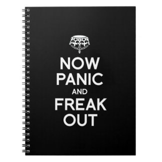 NOW PANIC AND FREAK OUT NOTE BOOKS