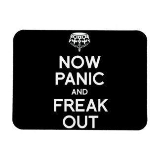 NOW PANIC AND FREAK OUT RECTANGULAR PHOTO MAGNET