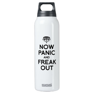 NOW PANIC AND FREAK OUT 16 OZ INSULATED SIGG THERMOS WATER BOTTLE