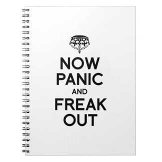 NOW PANIC AND FREAK OUT SPIRAL NOTEBOOK