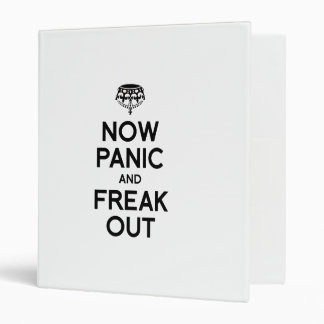 NOW PANIC AND FREAK OUT VINYL BINDERS