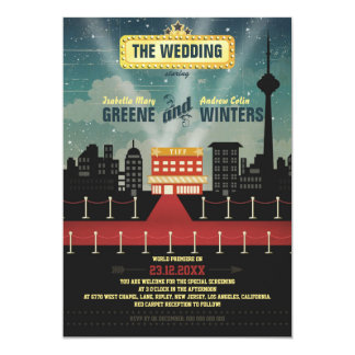 Now Playing - Toronto version 5x7 Paper Invitation Card