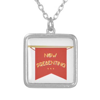 Now Presenting Square Pendant Necklace