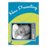 Now Presenting Your New Baby Card