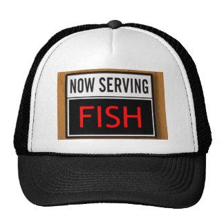 Now Serving Fish Trucker Hat