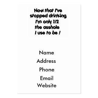 Now that I've stopped drinking-business cards