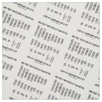 Now That You've Seen My Karyotype Aneuploidy (DS) Fabric