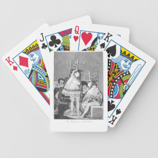 Now they are sitting well by Francisco Goya Bicycle Playing Cards