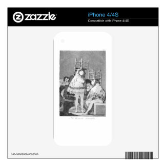 Now they are sitting well by Francisco Goya Skins For The iPhone 4S
