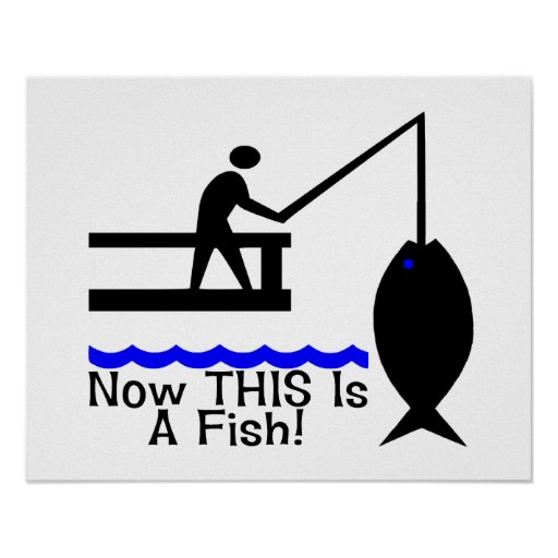 Now this is a fish poster zazzle for 104 7 the fish