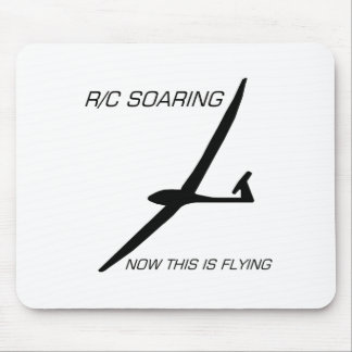 NOW THIS IS FLYING ... Black Glider Mouse Pad