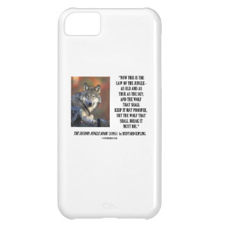 Now This Is The Law Of The Jungle Wolf Prosper Case For iPhone 5C