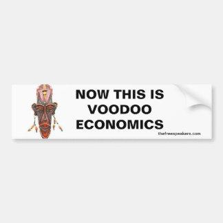 NOW THIS IS VOODOO ECONOMICS BUMPER STICKER