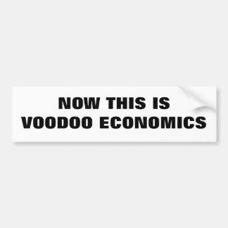 NOW THIS IS VOODOO ECONOMICS (TEXT) BUMPER STICKERS