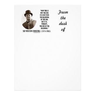 Now This Not The End Beginning (Winston Churchill) Letterhead Design