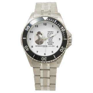 Now This Not The End Beginning Winston Churchill Wrist Watches