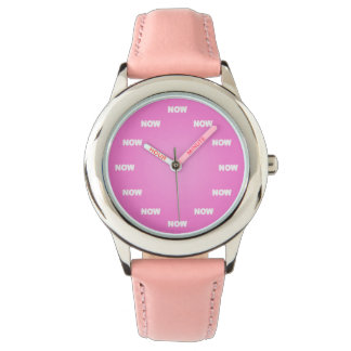 """NOW"" Watch (Pink)"