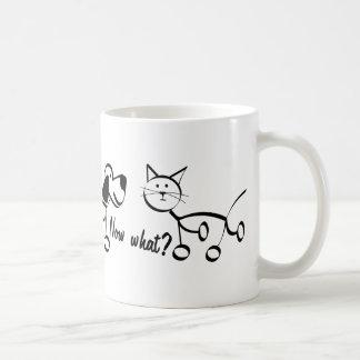Now what? classic white coffee mug