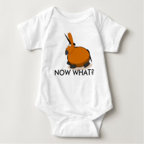 """NOW WHAT? with """"Vector The Mule"""" Baby Bodysuit"""