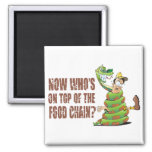 Now who's on top of the food chain 2 inch square magnet