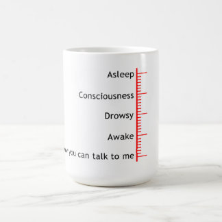 Now you can talk to me classic white coffee mug