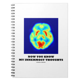 Now You Know My Innermost Thoughts (PET Scan) Spiral Notebook