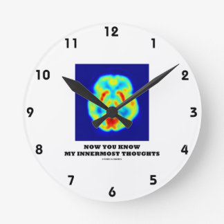 Now You Know My Innermost Thoughts (PET Scan) Round Clock