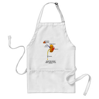 Now You Know Why I Have To Go (Diuresis) Adult Apron