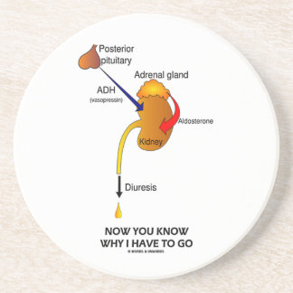 Now You Know Why I Have To Go (Diuresis) Drink Coaster