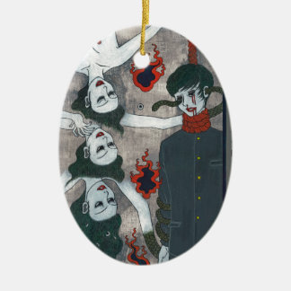 Now you look at the leash oak of the eyeball gathe ceramic ornament