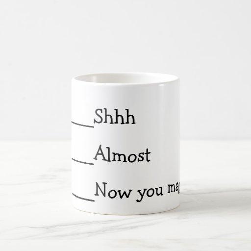 Now you may speak funny meme Classic White Coffee Mug