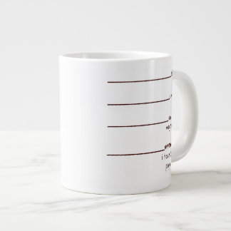 now you may speak giant coffee mug