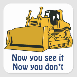 Now You See It Square Sticker