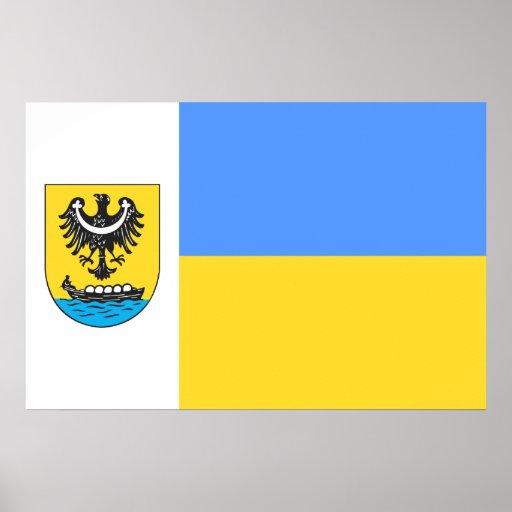 Nowa Sol, Poland flag Print