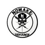 NOWAKE An Act of Defiance Wall Clock