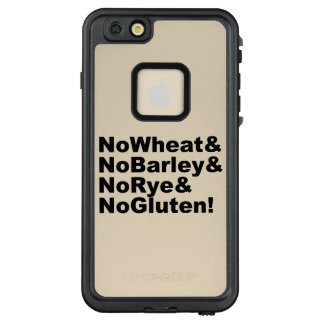 NoWheat&NoBarley&NoRye&NoGluten! (blk) LifeProof FRĒ iPhone 6/6s Plus Case