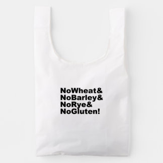 NoWheat&NoBarley&NoRye&NoGluten! (blk) Reusable Bag